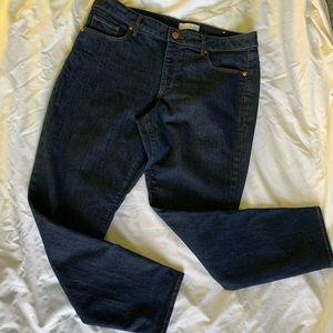 LOFT Curvy Skinny Dark Wash Jeans